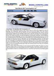 Opel Manta 400 homologation car