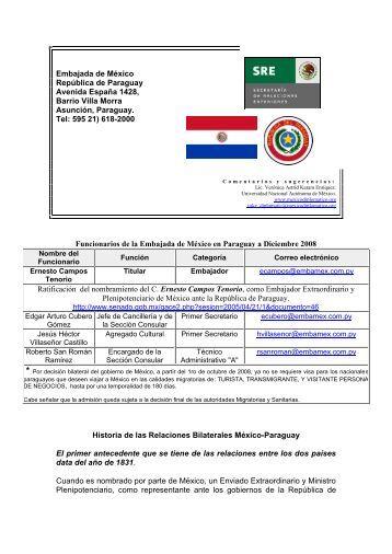 Embajada de México en Paraguay - México Diplomático