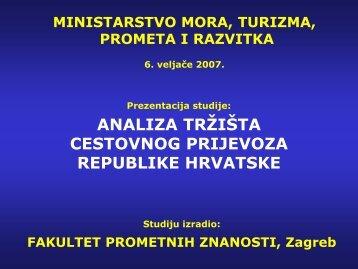 Analiza tržišta cestovnog prijevoza u Republici Hrvatskoj
