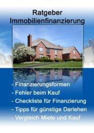 1 Ratgeber für Immobilienfinanzierung - Baufinanzierung