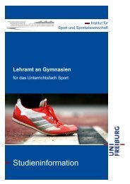 Studieninformation. - Institut für Sport und Sportwissenschaft