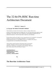 The 32-bit PA-RISC Run-time Architecture Document
