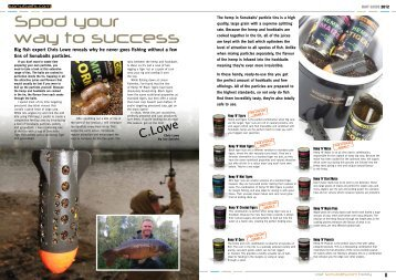 Spod your way to success - Carp Fishing Tackle for the Avid Carper