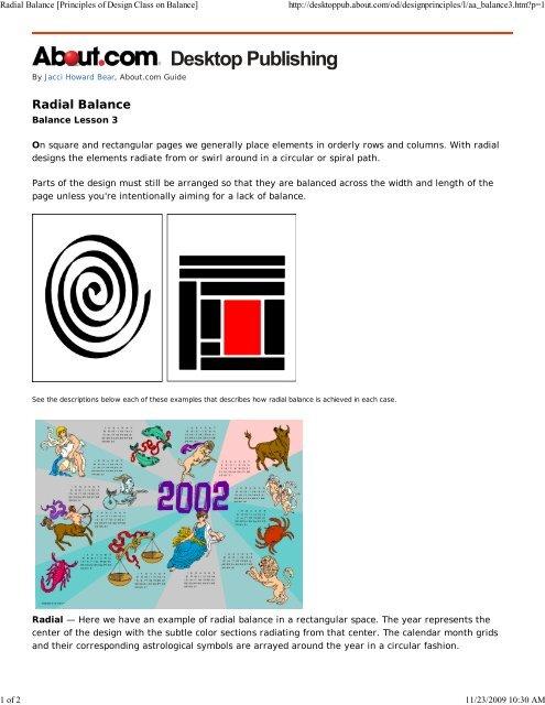 Radial Balance Principles Schools