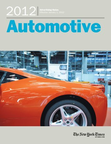 Automotive - New York Times – inEducation – Subscriptions