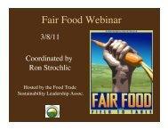 Fair Food Webinar - Sustainable Food Trade Association