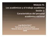 académica - Seminario de Educación Superior de la UNAM