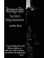 Returning to Eden: - Training for the Cross
