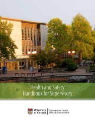 Supervisor Handbook - Occupational Health and Safety - University ...