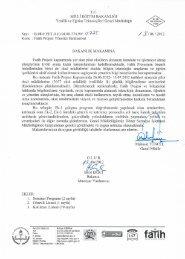13/07/2012 tarihleri arasında düzenlenecek Fatih Projesi Yönetici ...