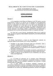REGLAMENTO DE PARTICIPACIÓN CIUDADANA - Ayuntamiento ...
