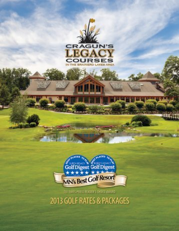 2013 Golf Brochure - Cragun's Resort on Gull Lake
