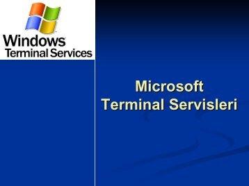Microsoft Terminal Servisleri