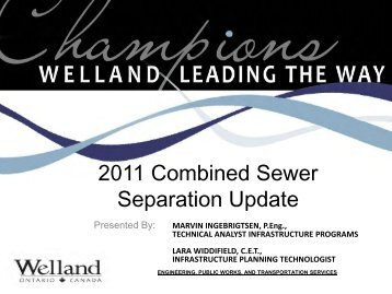 2011 Combined Sewer Separation Update
