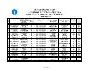 service area plan - Madhepura