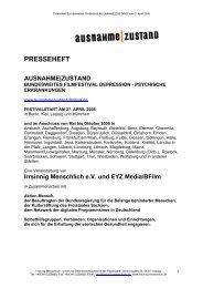 Irrsinnig Menschlich e.V. und EYZ Media/BFilm - Ausnahme Zustand
