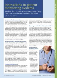 Innovations in patient- monitoring systems - American Nurse Today