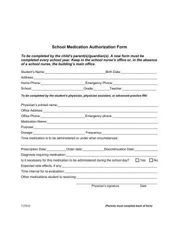 MEDICATION AUTHORIZATION FORM - UMKC Athletics