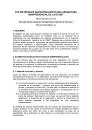 R0042 : Los materiales audiovisuales en una asignatura ... - UPC