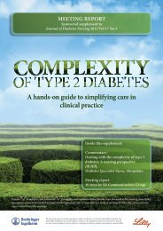 Complexity of Type 2 Diabetes: Nursing Focus - therapy areas