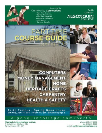 For complete course Guide please click to download - Algonquin ...