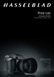 hasselblad uk ltd - price list january 2011 - v1.1 - Teamwork