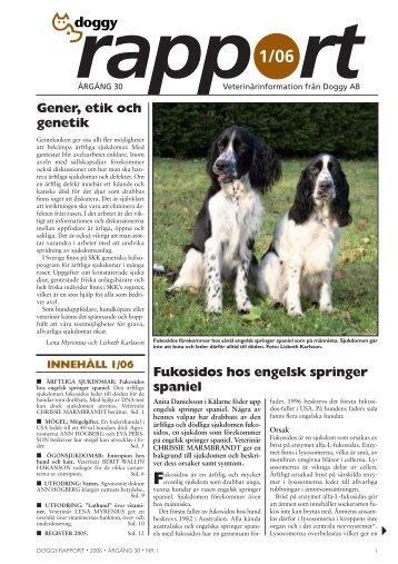 Fukosidos hos engelsk springer spaniel Gener, etik ... - Doggy Rapport