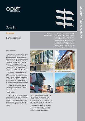 Solarfin - Sonnenschutz Solarfin - Colt Lamellen