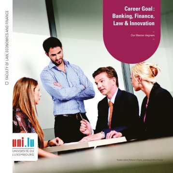 Career Goal : Banking, Finance, Law & Innovation - University of ...