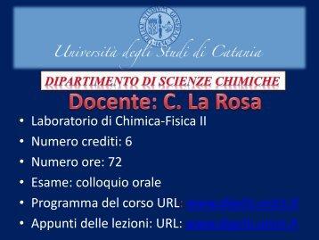 T - Dipartimento di Scienze Chimiche