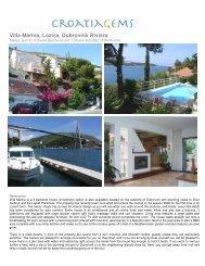 Villa Marina, Lozica, Dubrovnik Riviera - CroatiaGems
