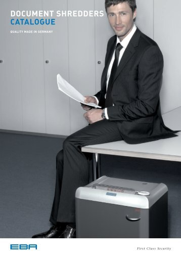 EBA Document shredders catalogue