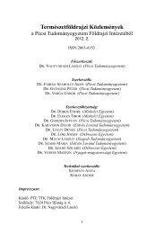 Teljes szám letöltése - PTE TTK FI - Pécsi Tudományegyetem