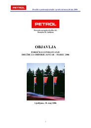Poročilo o poslovanju ja-mar 06 - Petrol