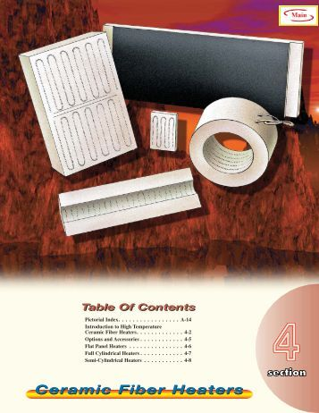 Ceramic Fiber Heaters - Tempco Electric Heater Corporation