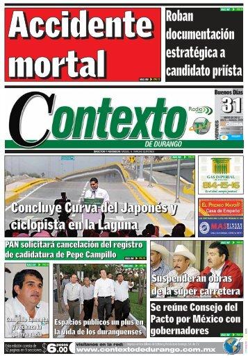 31/05/2013 - Contexto de Durango