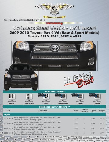 2009-2010 Toyota RAV 4 V6 (Base & Sport Models) - Cloud-Rider
