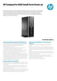 HP Compaq Pro 6305 Small Form Factor