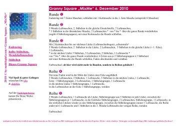 """Granny Square """"MixMe"""" 6. Dezember 2010 Runde ... - Nadelspiel"""