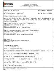 RAZÃO SOCIAL: ROCHE DIAGNÓSTICA BRASIL LTDA. CNPJ ...