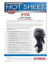 F70 Hot Sheet.indd - Yamaha