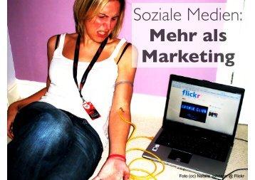 Soziale Medien: Mehr als Marketing - Marketing on Tour