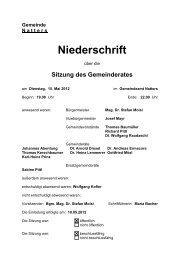 Protokoll vom 15.5.2012 (31 KB) - .PDF - Natters