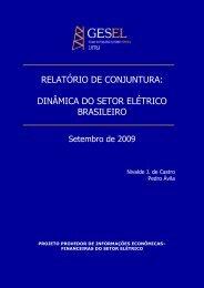 relatório de conjuntura: dinâmica do setor elétrico ... - Nuca - UFRJ