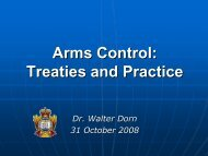 Arms Control Notes - Dr. Walter Dorn