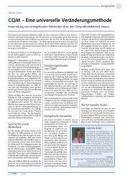 CQM – Eine universelle Veränderungsmethode - Der frankfurter ring