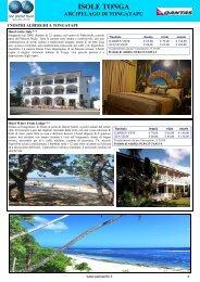 I nostri alberghi a Tongatapu - Pan Pacific Tours