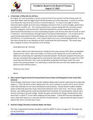 President's Report to the Board of Trustees ... - Hartnell College
