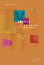 Third Level Physics Courses in Ireland (PDF, 679 KB)