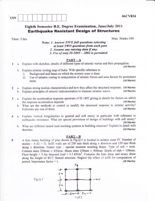 Earthquake Resistant Design of Structures - Vtustudentsparadise